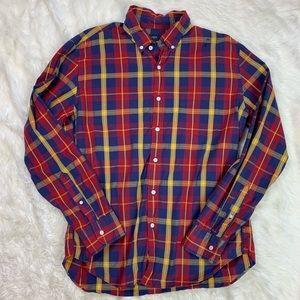 J Crew Button Down Plaid Shirt